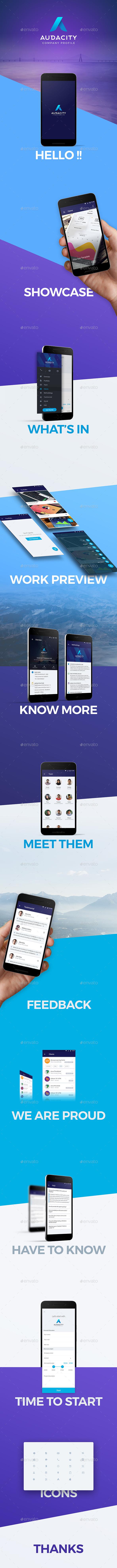Audacity - Company Profile App UI Kit - User Interfaces Web Elements