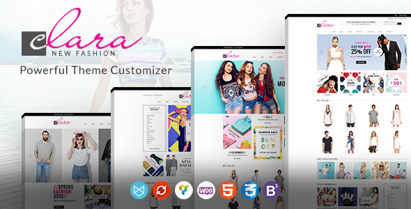Simple Fashion WooCommerce Theme – WP Clara eCommerce