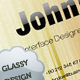 Glassy Designer Business Card - GraphicRiver Item for Sale