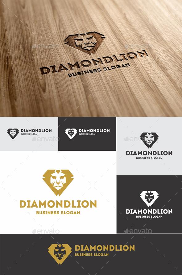 Diamond Lion Logo Template