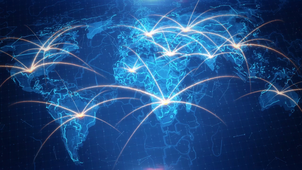 World map on the animated background by rodionova videohive play preview video gumiabroncs Gallery