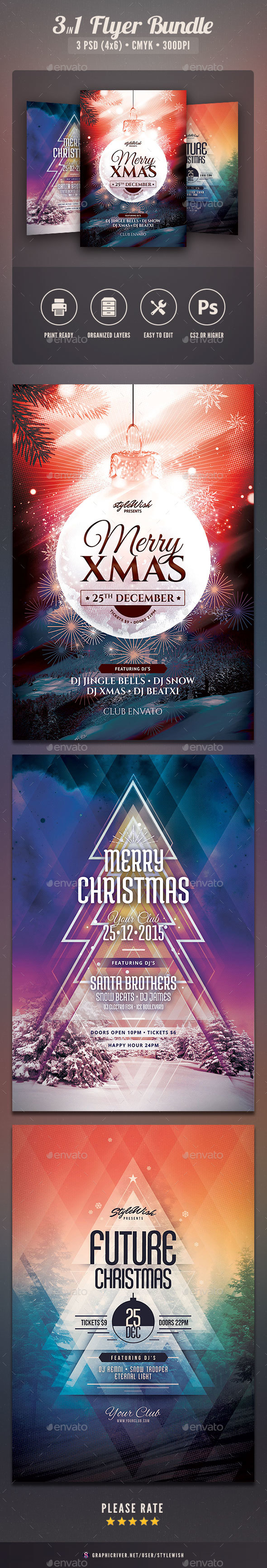 Christmas Flyer Bundle Vol.03 - Clubs & Parties Events
