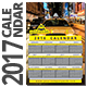 Yellow Cab 2017 Calendar Template - GraphicRiver Item for Sale