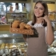 Woman Keeps The Box With Croissants - VideoHive Item for Sale