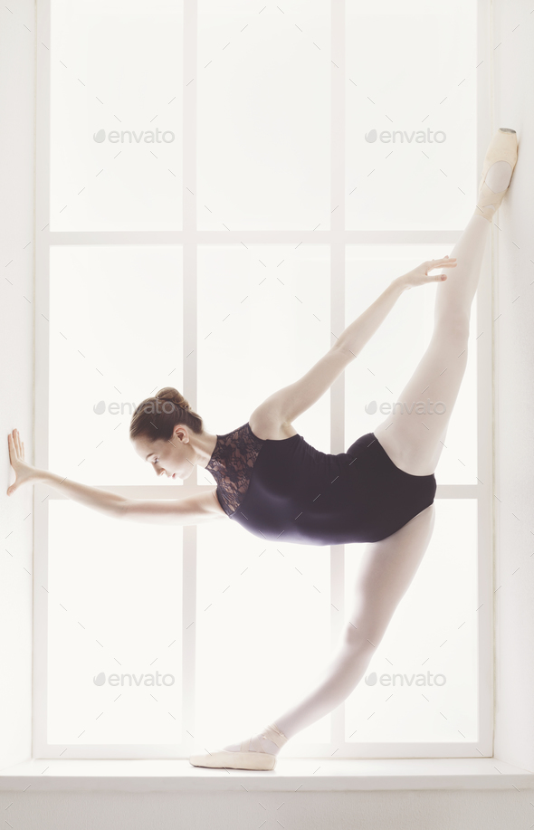 Classical Ballet dancer in split