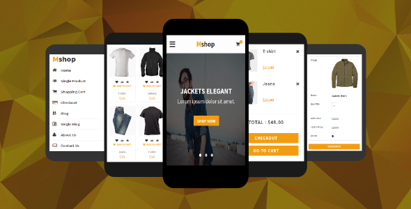 Mshop – eCommerce Mobile Template