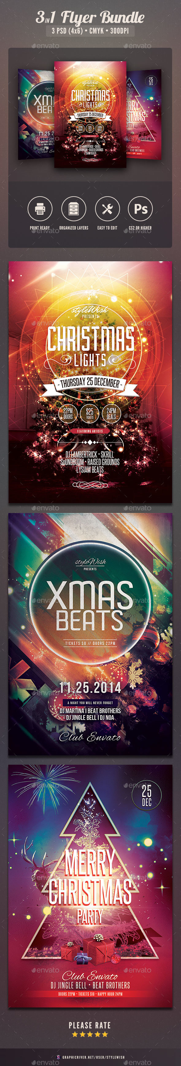 Christmas Flyer Bundle Vol.02 - Clubs & Parties Events