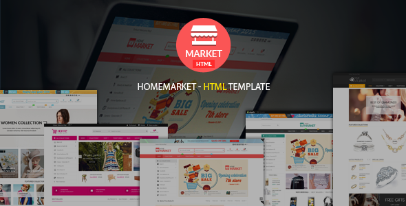 Home Market | Creative – Modern – Flexible Responsive eCommerce  HTML Template