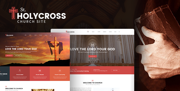HolyCross – Church PSD Template (Charity, Event, Non-Profit, Donation)