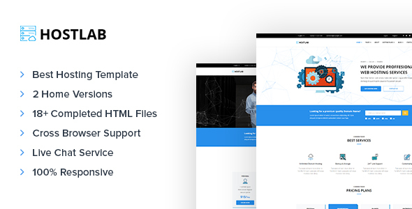HostLab – Domain & Hosting Responsive Template