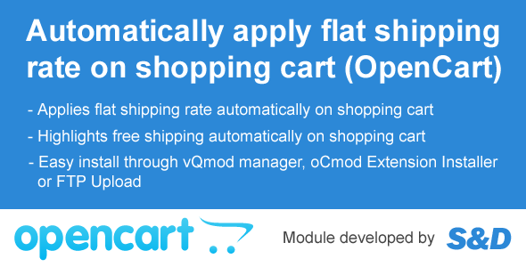Auto Shipping Module for OpenCart (vQmod/oCmod) - CodeCanyon Item for Sale