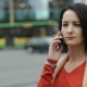 Girl Talking On The Phone In The City - VideoHive Item for Sale