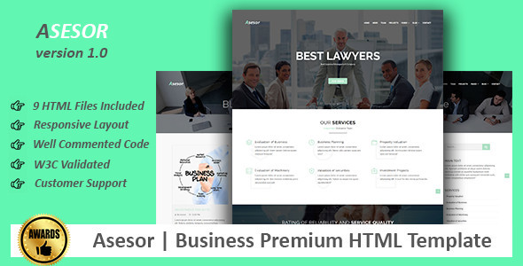 Asesor | Business Premium HTML Template