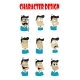 Emotions Faces Vector Characters - GraphicRiver Item for Sale