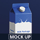Juice / Milk Mockup - 1L Carton Box