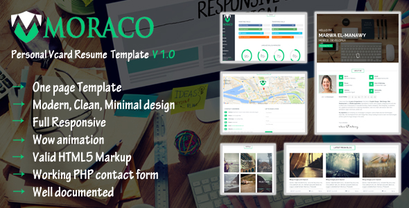 MORACO – Personal Vcard Resume HTML Template
