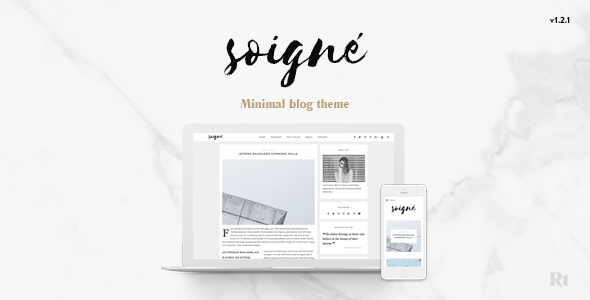 Soigne - A Responsive Minimal WordPress Blog Theme
