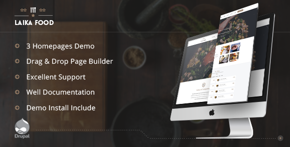 Laikafood - Restaurant, Cafe & Food Drupal Theme - Food Retail
