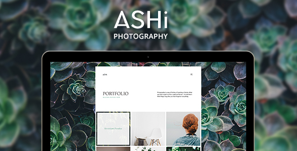ASHi - Minimal Photography WordPress Theme - Photography Creative