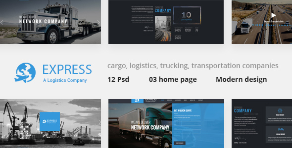 Express – Modern Transport & Logistics PSD Template