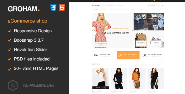 Groham – Fashion eCommerce HTML template
