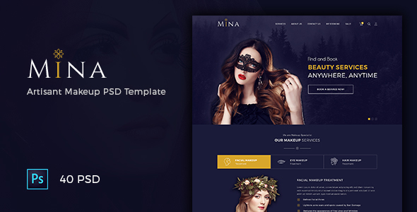 Mina – Beauty Artisan Makeup PSD