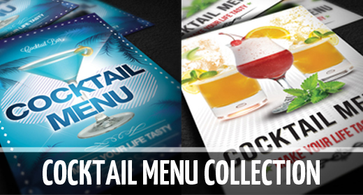 Cocktail menu collection