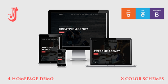 JANNAT – Onepage Creative Agency Template