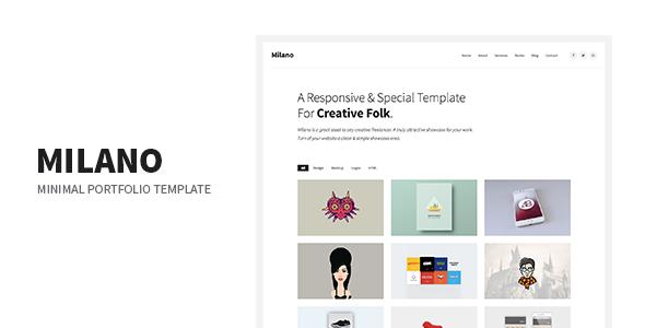 Milano – Minimal Creative Agency Portfolio Responsive Site Template