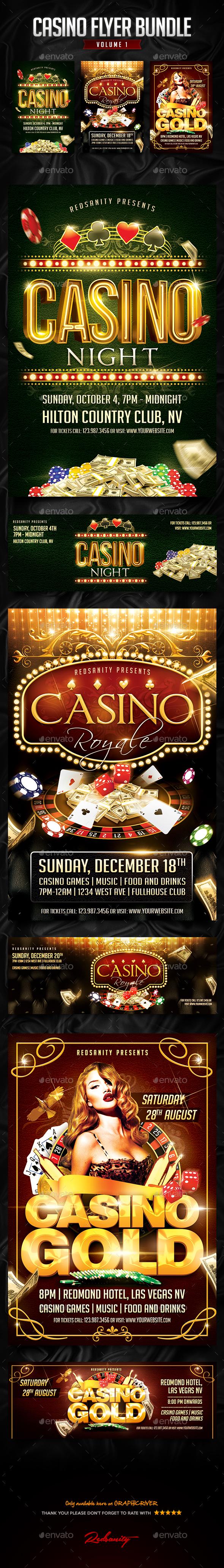Casino Flyer Bundle Vol.1 - Events Flyers