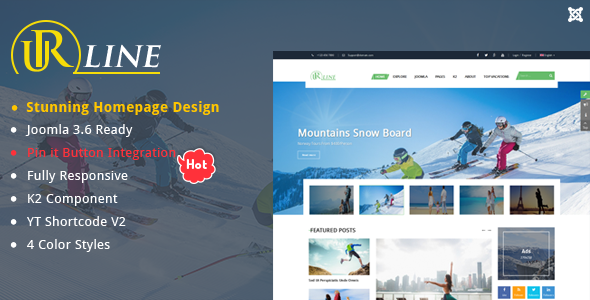Urline – Responsive Travel News Joomla Template