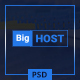 BigHost - Web Hosting Domain Technology PSD Template - ThemeForest Item for Sale