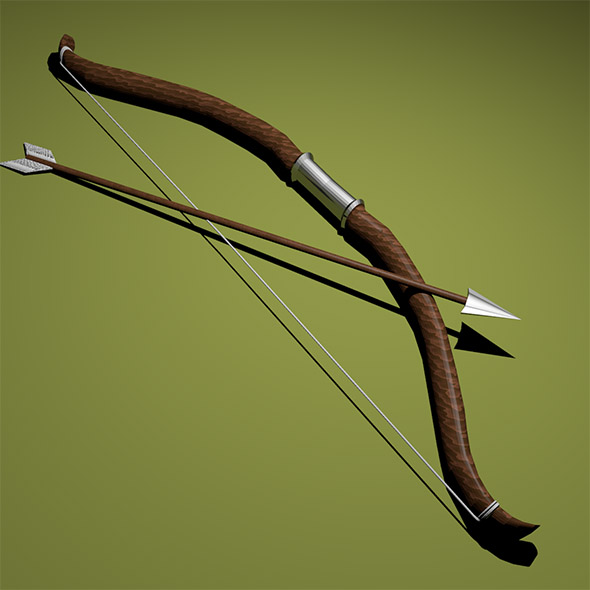 Bow with arrow - 3DOcean Item for Sale