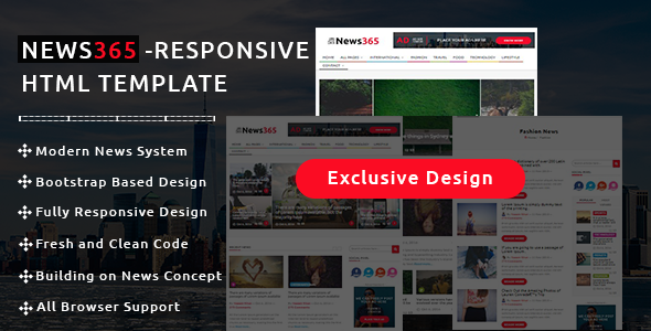 News365 – Newspaper Magazine & Blog HTML Multipurpose Template with Video Newspaper