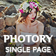 Photory - Photographer Single Page Portfolio