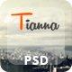 Tianna - One Page PSD Template - ThemeForest Item for Sale