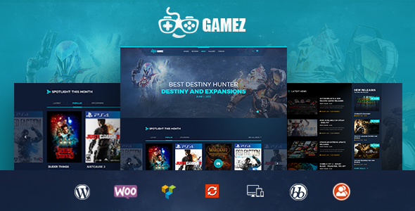 Gamez – Games, Movie, Music Review and Editorial WordPress Theme
