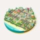 Isometric City Business Center - GraphicRiver Item for Sale