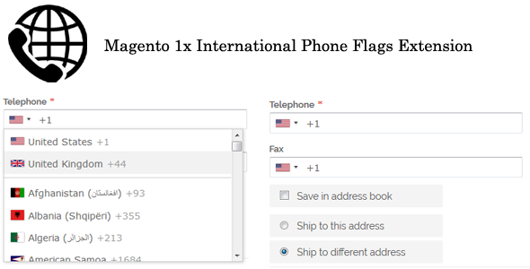 Magento 1x International Phone Flags Extension - CodeCanyon Item for Sale