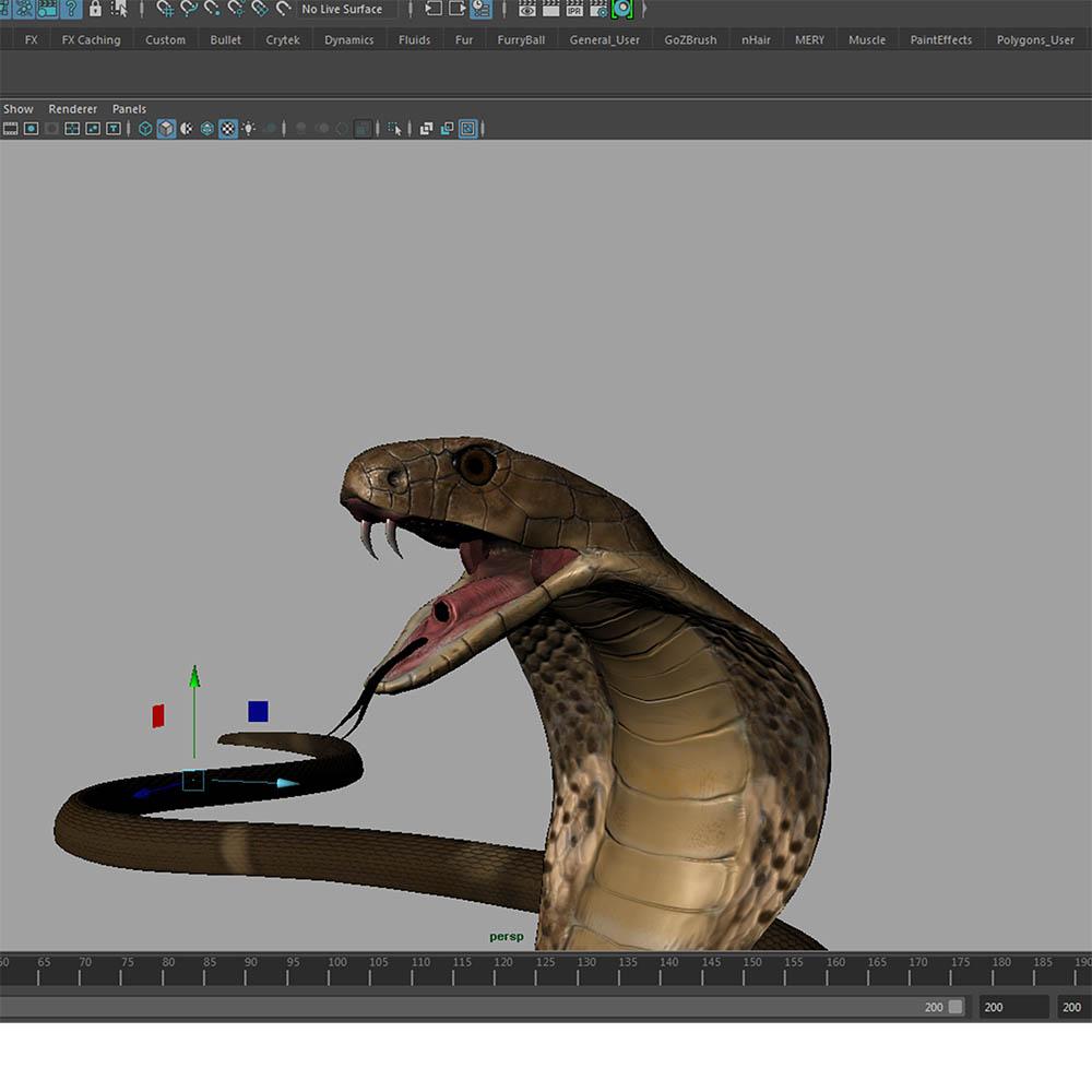 Realistic King Cobra Rig By Jackrocker84 3docean