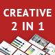 2 IN1 Creative PowerPoint Presentation Bundle - GraphicRiver Item for Sale