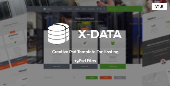 X-DATA – Hosting PSD Template