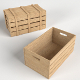 Wooden Crates (1 opened, 1 closed)
