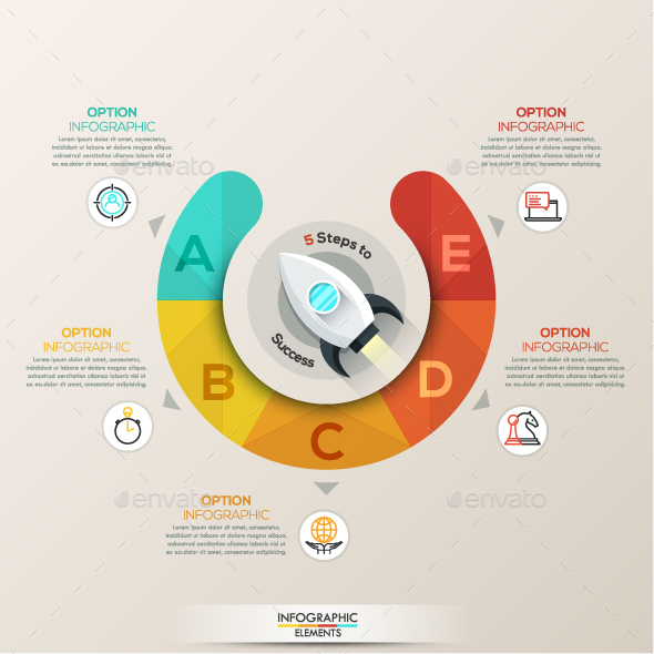 Colorful Flat Startup Infographics
