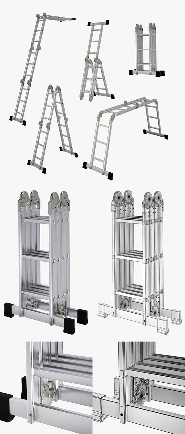 Ladder Transformation System Set - 3DOcean Item for Sale