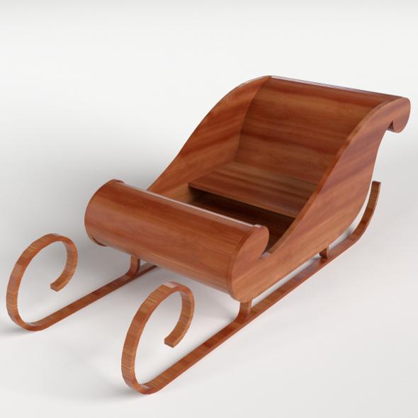 Wooden Sledding - 3DOcean Item for Sale