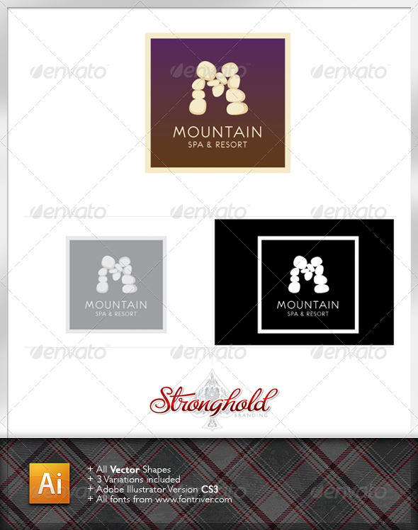 Mountain Spa and Resort Logo - Nature Logo Templates