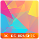30 Low-Poly / Polygonal / Geometrical Photoshop Brushes #3 - GraphicRiver Item for Sale