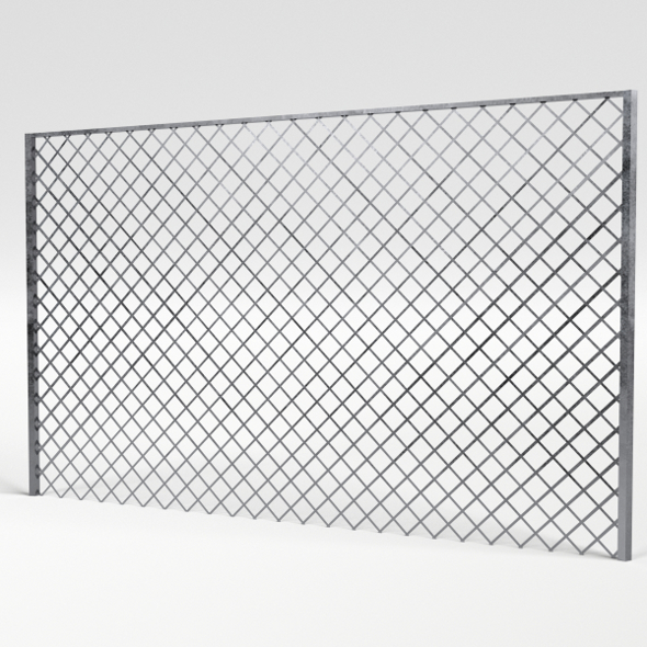 Chain Link Fence - 3DOcean Item for Sale