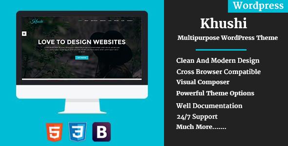 Khushi – Multipurpose WordPress Theme